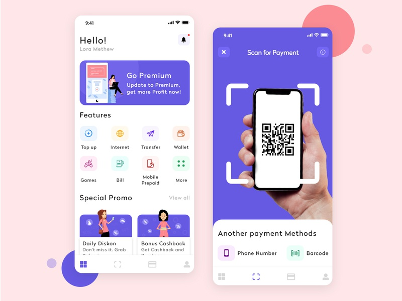 Digital wallet app uidesign application design digital wallet app