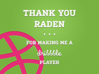 Debut: Thank You For The Invite @raden