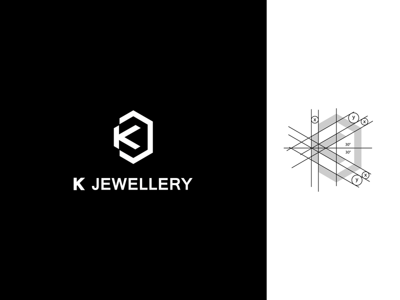 K Jewellery diamond logo diamond shop k kletter klogo jewellery shop jewellery blacklogo blackandwhite branding icon ilustration flat vector dribbble design