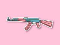 AK47 sticker