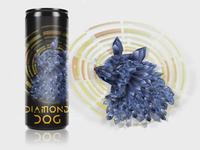 Diamond Dog Illustration Mockup