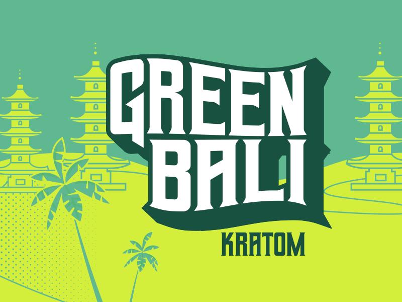 Green Bali Kratom mexico vector branding design logo logotype