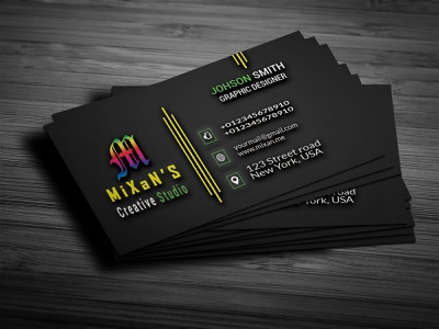 Personal Business Cards flat ui illustrator graphicdesign animation web icon vector design logo illustration sketch business businesscards branding