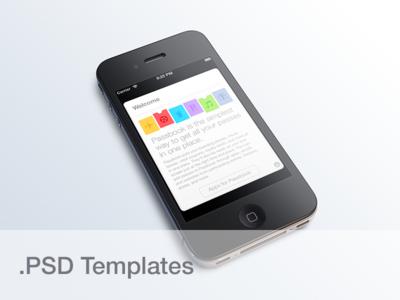 iPhone 4 PSD Templates