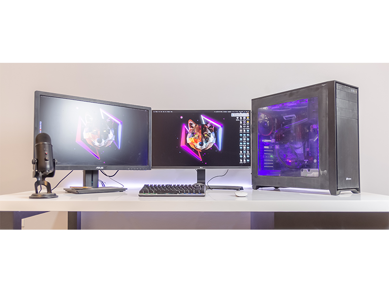 META Desk - 2017 setup hackintosh custom 4k workstation desk