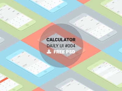 Calculator - Daily UI #004 converter freebie ios android mobile app ux ui calculator