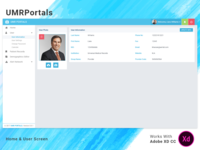 UMRPortals Website Home & User Screens