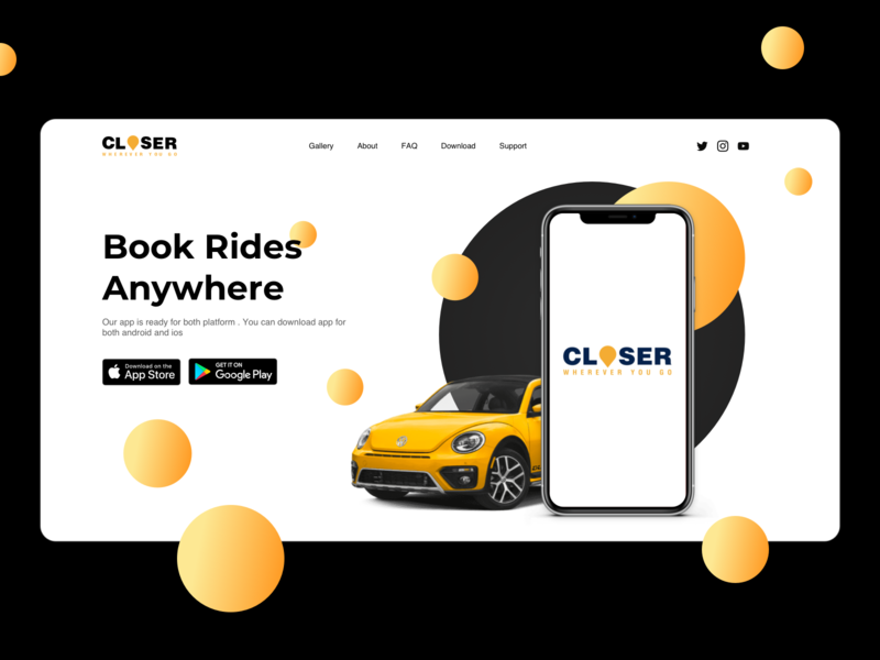 Taxi Landing Page for company car landing page car design web design landing page design taxi landing page landing page