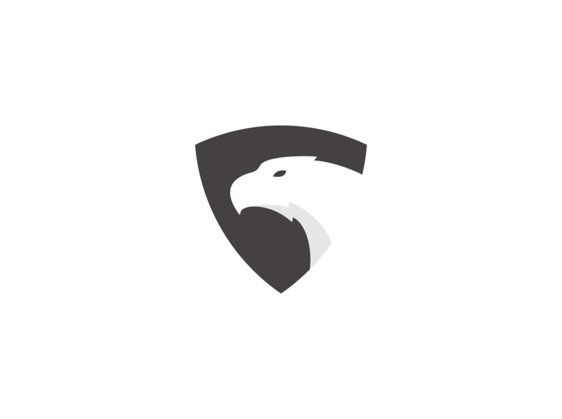 eagle shield logo design bird illustration bird logo bird falcon hawk eagle logo eagle animal logo animal minimal logo illustrator illustration flat identity design branding vector