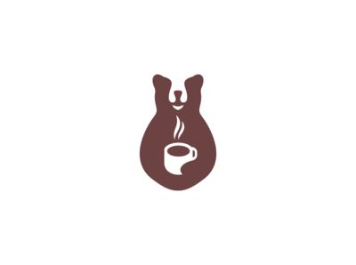 bear coffee logo design
