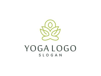 yoga logo design lotus flower lotus flower yoga mat yoga pose yoga logo yoga vector minimal logo illustrator illustration identity flat design branding