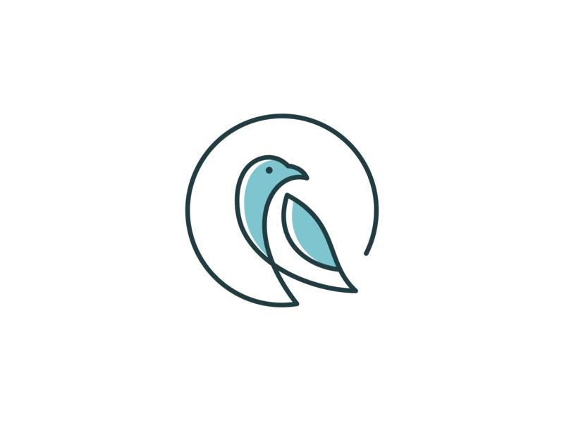 bird logo design simple design one line bird illustration bird house bird logo bird icon bird animal logo animal vector minimal logo illustrator illustration identity flat design branding