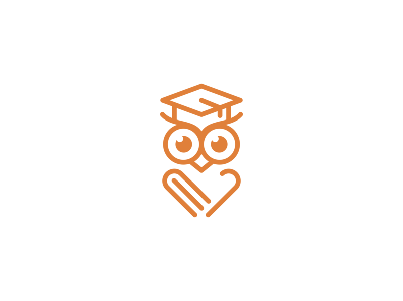 owl education logo design owl logo owls owl bird logo bird illustration bird animal logo animal vector minimal logo illustrator illustration flat identity design branding
