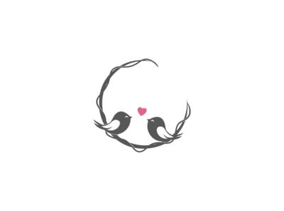 love bird concept illustration design