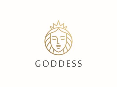 beautiful goddess vector logo design