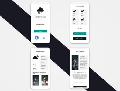 Weather forecasting fashion app