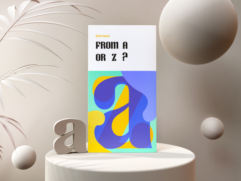 From A or Z?   Tutorial render clay 3d text typography photon book vectary 3d