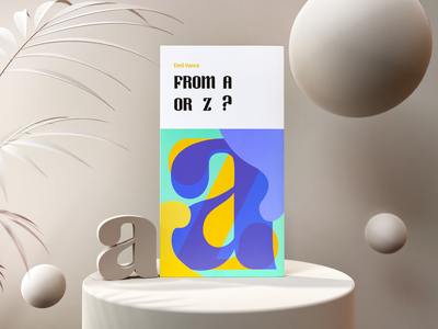 From A or Z? | Tutorial render clay 3d text typography photon book vectary 3d