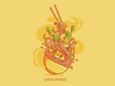 Mie Ayam vector artwork branding logo food illustration foodies foodillustrator vegetable illustration art design adobe adobe illustrator foodillustration food flat illustration artwork flatdesign illustration