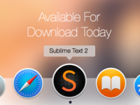 Sublime Text 2 icon Yosemite Redesign