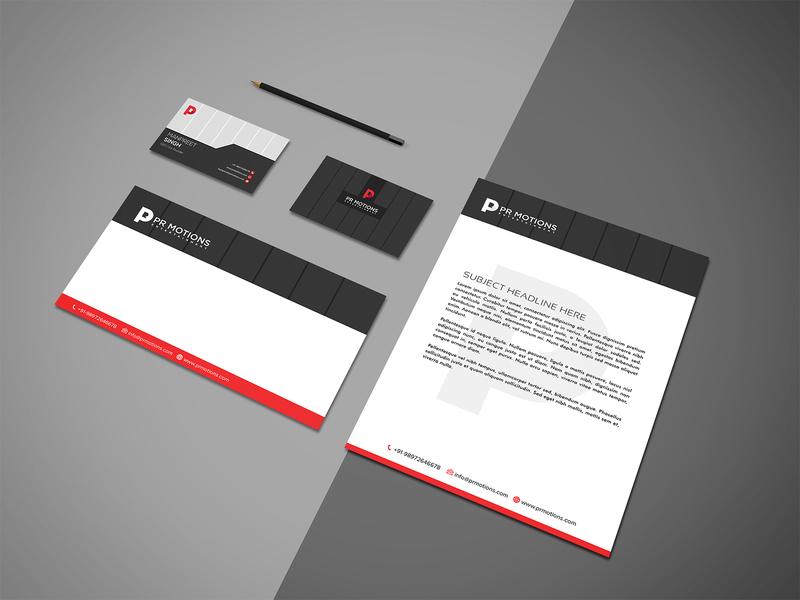 Per motions Branding Design envelope design card logo design letter head card design business card identity design identity card brand branding design