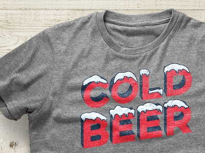 Sun, Blue Skies and Cold Beer summer beer shirt design design