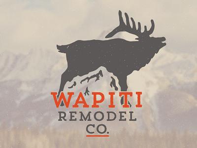 Wapiti Logo colorado elk design logodesign logo