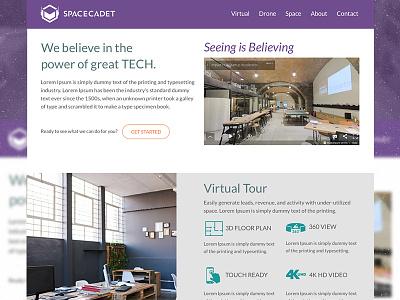 Spacecadet sketch website web design design