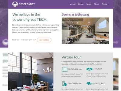 Spacecadet sketch website web design design