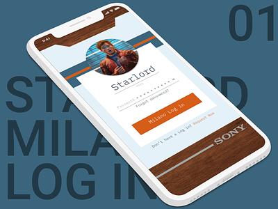 Milano Log in app design ui log in app