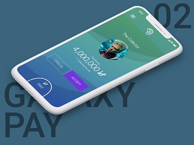Galaxy Pay pay app design ui user app