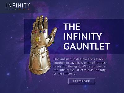 Infinity Gauntlet infinity gauntlet sketch website web design design