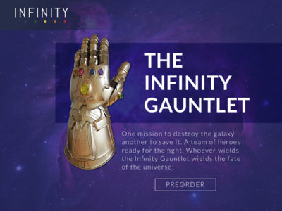 Infinity Gauntlet infinity gauntlet sketch website web design design