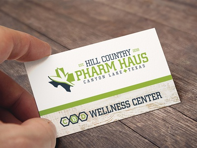 Hcph Business Card cbd berthold city typography business card logo design