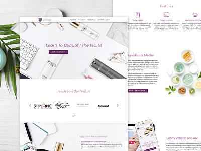 Tsa Website sans open montserrat website web ux ui minimal interface homepage design clean