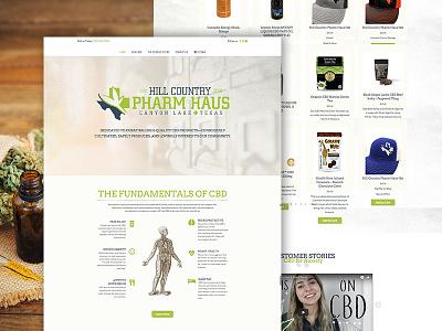 Hill Country Pharm Haus userinterfacedesign userinterface marijuana ecommerce vintage cbd web design web website