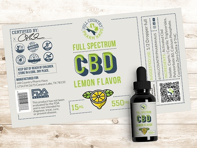 HC Pharm Haus CBD Bottle Dribble brand assets cbd label design label mockup labeldesign