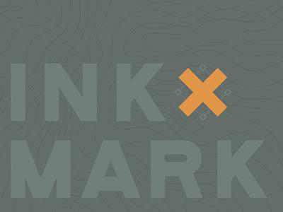 Inkmark 2019 branding design xing green logo wordmark topo typographic logo logo