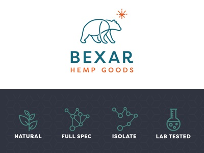 Bexar Hemp CBD identity design identity brand identity brand design branding bear logo cbd cbd logo logo design logodesign logo