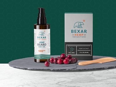 Bexar Hemp cbd Product Shot identity branding brand design package branding packaging package design cbd oil cbd logo cbd