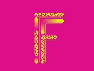 F by Natalie Heise via dribbble
