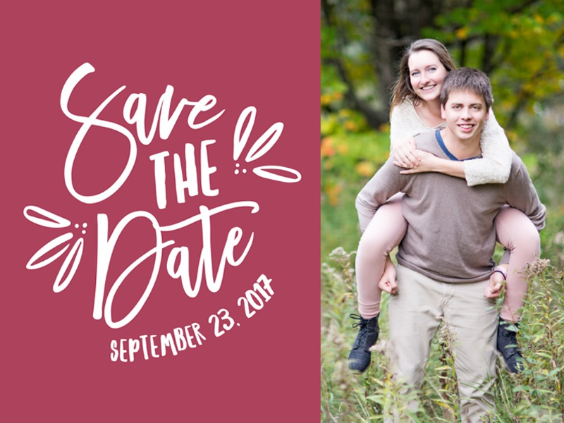 Personal - Save the Date photoshop illustrator postcard save the date