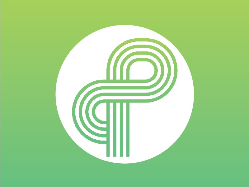 P is for Pleased illustrator vector logotype logo letter p