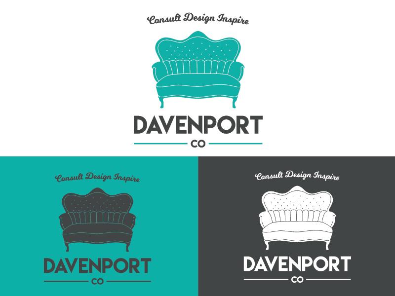 Client Rebrand design illustrator identity branding logo furniture couch