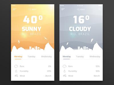 Daily UI 037 - Weather rio weather dailyui challenge 037