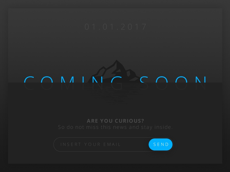 Daily UI 048 - Coming Soon soon coming dailyui challenge 047