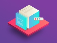 Box isometric illustration