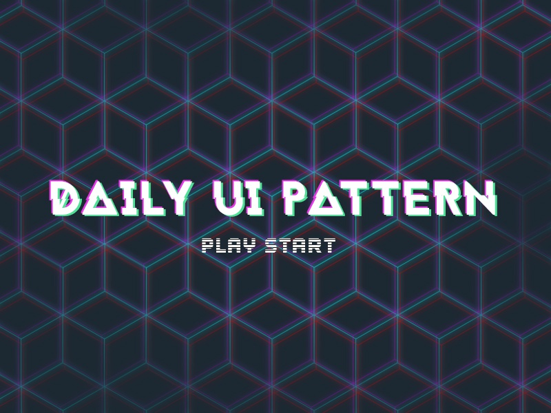Daily UI 059 - Background Pattern pattern ui daily