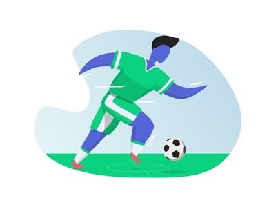 Soccer Player ilustration player soccer