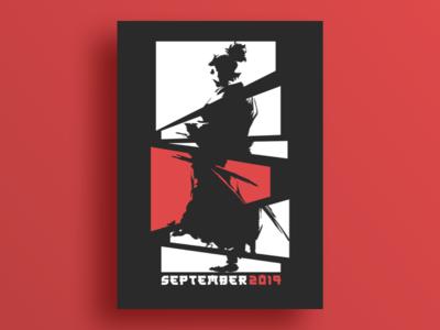 09_Poster_September artwork 2019 ninja poster japan art